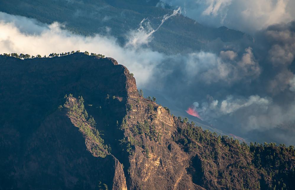 Vulkanutbruddet med Pico Bejenado i front
