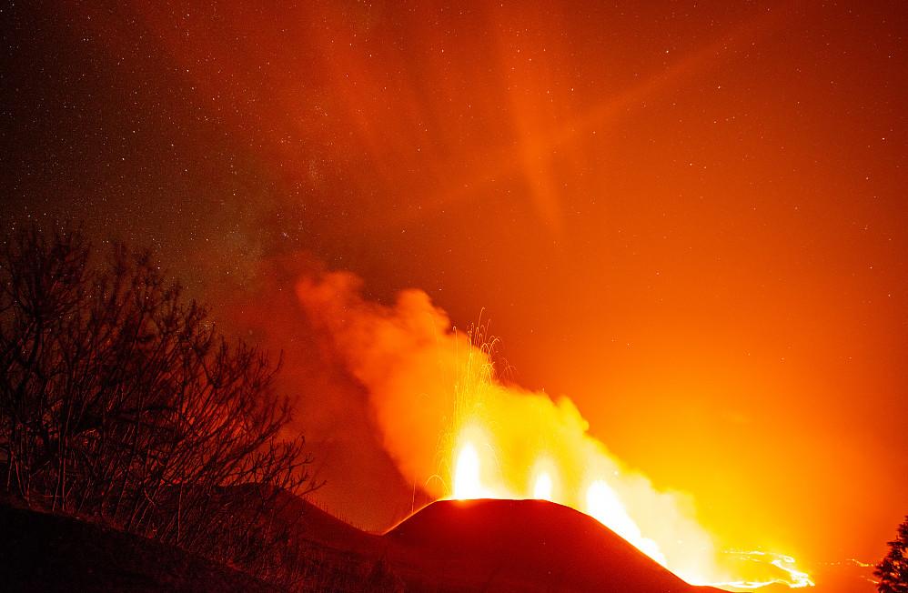 Stjernehimmel og en vulkan!