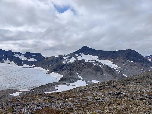 Nord for Gjømmerbreen fra Øst for Gjømmerdalsbreen