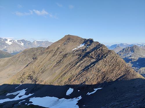 Ryggen mot Lille Rieppefjell
