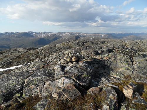 På toppen av Tjørnnuten med utsikt nordaust.