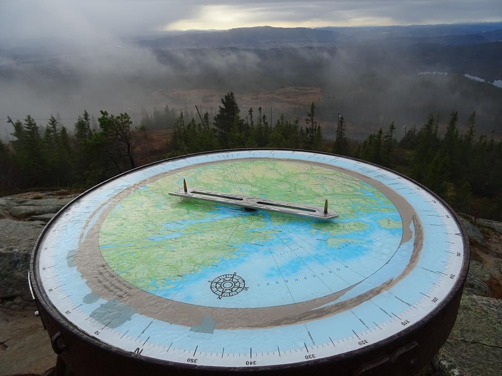Panoramasikteskive på Gråkallen sør